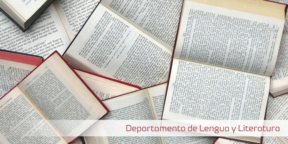 banner del departamento de lengua y literatura